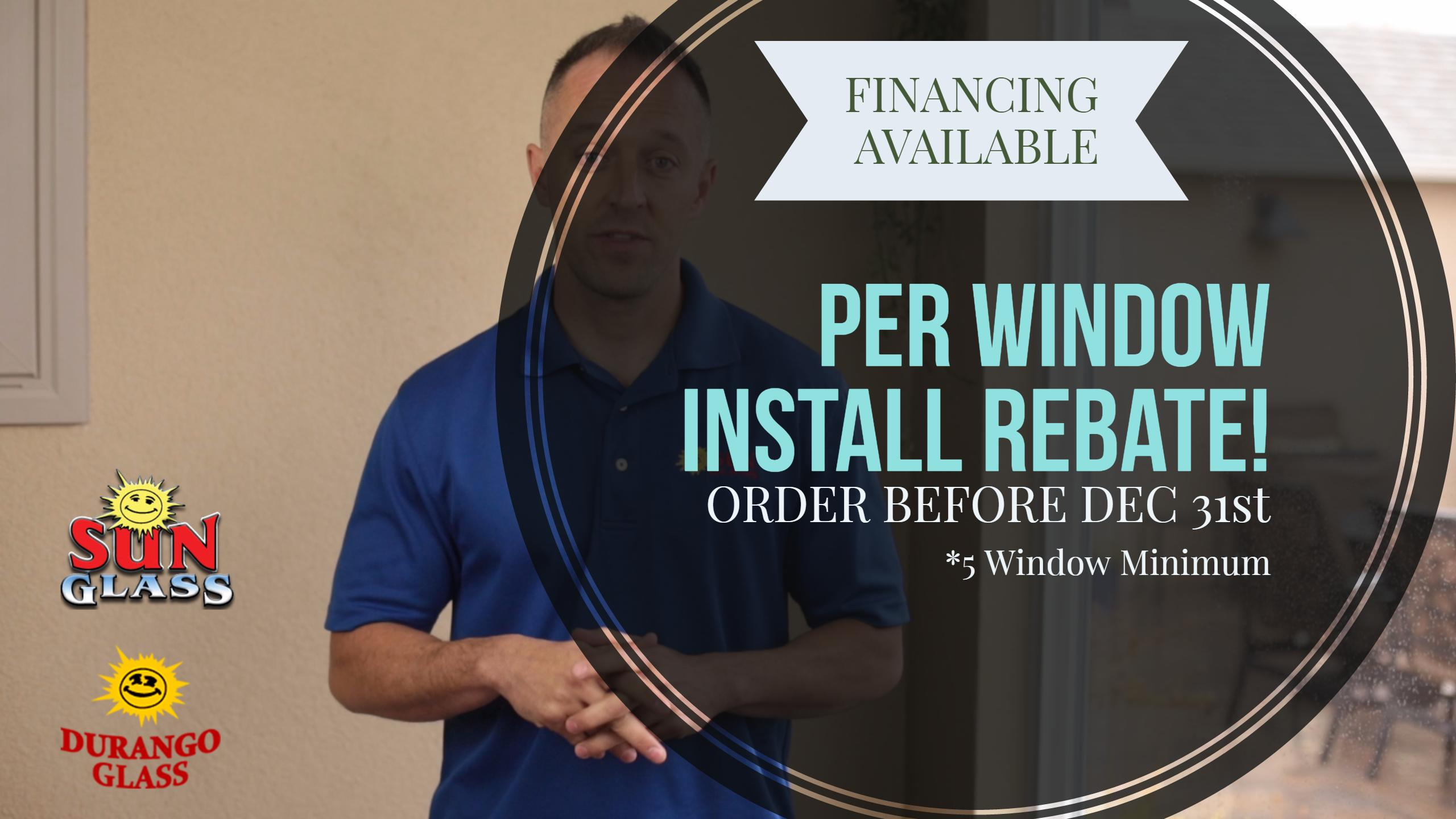 windows rebate in cortez nm through december for installations special
